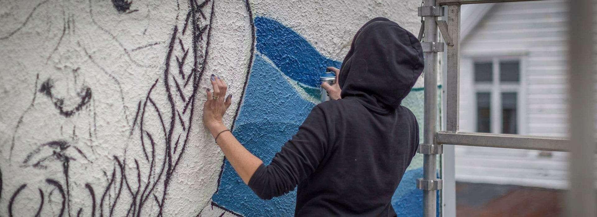 Street art i Florø. Foto.